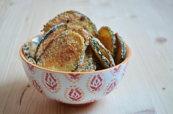 Chips croccanti di zucchine alforno